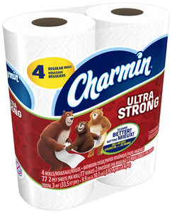 Picture of item 887-635 a Charmin Ultra Strong 2 Ply Bathroom Tissue. 4 Rolls per Pack. White. 96 Count.  Replaces 887-634
