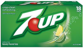 Picture of item 965-433 a 7-Up Lemon-Lime Soda. 12 oz cans. 18 Count.