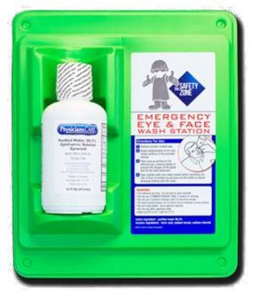 Picture of item 965-577 a Single Bottle Eye Wash Station with Wall Mount. 16 oz.