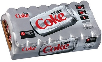 Picture of item 965-404 a Diet Coke. 12 oz cans. 32 count.