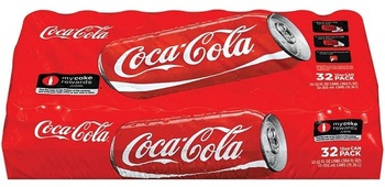 Picture of item 965-406 a Coca-Cola. 12 oz cans. 32 count.
