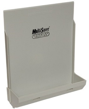 Picture of item 971-271 a MultiSaver® Multifold Plate For Recessed Folded Towel Dispensers. 10.50 X 3.50 X 12.25 in. Gray.