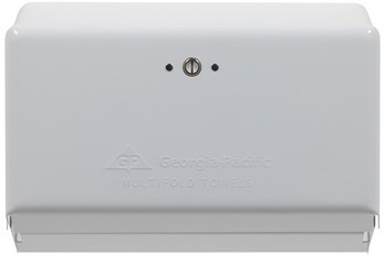Picture of item 976-274 a Georgia-Pacific Multifold Towel Dispenser. 11.63 X 4.25 X 8.50 in. White.