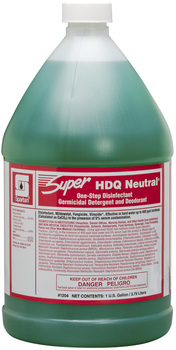 Picture of item 604-137 a Super HDQ Neutral®.  One Step Disinfectant Germicidal Detergent and Deodorant.  1 Gallon.