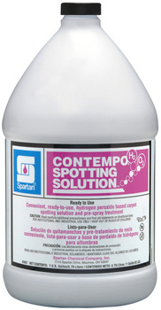 Picture of item 650-100 a Contempo® H2O2 Spotting Solution.  Hydrogen Peroxide Based Carpet Spotting Solution. 1 Gallon.