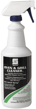 Picture of item H882-498 a Oven & Grill Cleaner.  Includes gloves and 3 trigger sprayers.  1 Quart.