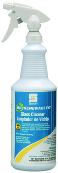 Picture of item 662-115 a BioRenewables® Glass Cleaner.  Green Seal™ Certified.  1 Quart.