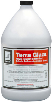 Picture of item 681-111 a Terra Glaze®.  One-coat acrylic polymer seal developed exclusively for terrazzo. 25% non-volatile solids.  1 Gallon.