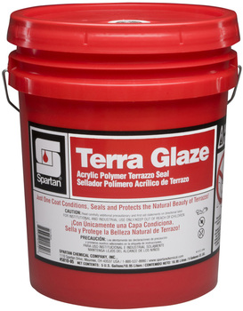 Picture of item 681-112 a Terra Glaze®.  One-coat acrylic polymer seal developed exclusively for terrazzo. 25% non-volatile solids.  5 Gallons.