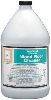 Picture of item 683-210 a AquaSport® Wood Floor Cleaner.  Cleans natural hardwood floors without buildup, harsh detergents or ammonia.  1 Gallon.