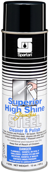 Picture of item 614-403 a Superior High Shine Stainless Steel Cleaner & Polish.  Oil-based formula. Pleasant lemon scent.  20 oz. Can, Net 15 oz.