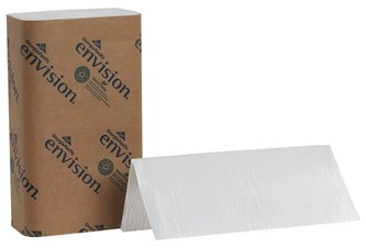 Picture of item 873-101 a Envision® Singlefold Paper Towels. 9.25 X 10.25 in. White. 4000 towels.