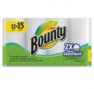 Picture of item 875-607 a Bounty® Perforated Towel Rolls, 2-Ply, White, 11 x 10 1/5, 50 Sheets/Roll, 12 Roll/Pack
