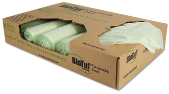 Picture of item 861-751 a Heritage Biotuf® Compostable Can Liners,  48 gal, 1 mil, 48 x 42, Green