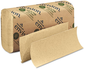 Picture of item 872-305 a GP Envision® Multifold Paper Towels. 9.2 X 9.4 in. Brown. 4000 towels.