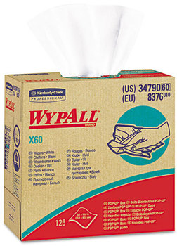 Picture of item 351-114 a WypAll* X60 Wipers,  HYDROKNIT, 9 1/8 x 16 4/5, 126/Box