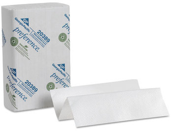 Picture of item 872-104 a Preference® Multifold Paper Towels. 9.25 X 9.5 in. White. 4000 towels.