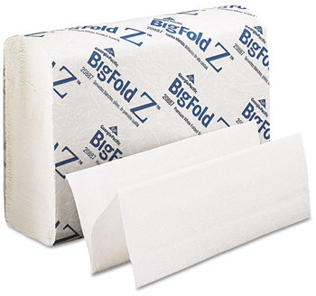 Picture of item 869-204 a BigFold Z® Premium C-Fold Replacement Paper Towels. 10.2 X 10.8 in. White. 2200 towels.