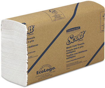 Picture of item 872-301 a SCOTT® Multi-Fold Towels. 9.2 X 9.4 in. White. 4000 towels.