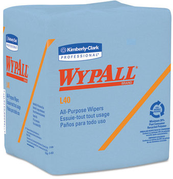 Picture of item 351-301 a WypAll* L40 Wipers,  12 1/2 x 12, 56/Box, 12 Boxes/Carton