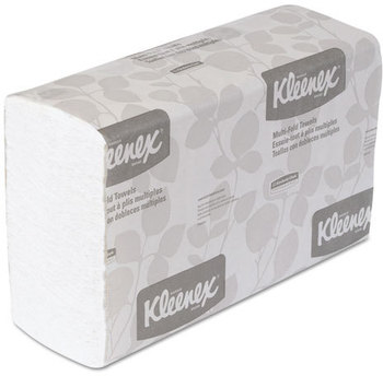 Picture of item 872-300 a KLEENEX® Multi-Fold Towels. 9.2 X 9.4 in. White. 2400 towels.