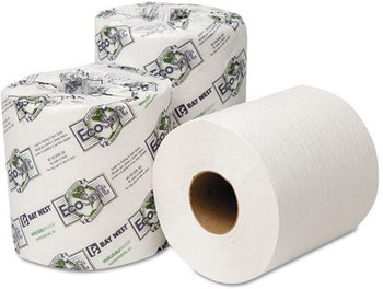 Picture of item 887-612 a Wausau Paper® EcoSoft® Universal Bathroom Tissue,  1-Ply, 1,000 Sheets/Roll, 96 Rolls/Carton