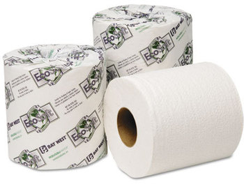 "Picture of item 887-604 a Wausau Paper® EcoSoft® Universal Bathroom Tissue,  4"" x 3-3/4"", 2-Ply, 500 Sheets/Roll, 96 Rolls/Carton"