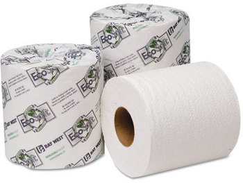 Picture of item 887-615 a Wausau Paper® EcoSoft® Universal Bathroom Tissue,  2-Ply, 500 Sheets/Roll, 48 Rolls/Carton