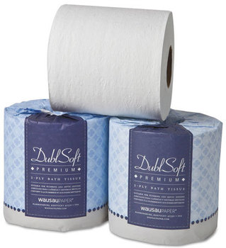 Picture of item 887-610 a Wausau Paper®  DublSoft® Toilet Tissue,  2-Ply, 80 Rolls/Carton