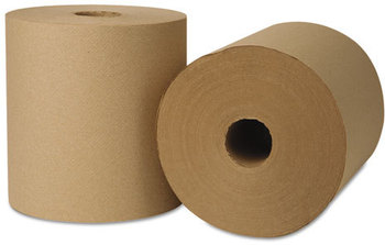 Picture of item 875-505 a EcoSoft® Universal Roll Towels. 8 in X 800 ft. Natural color. 6 rolls.