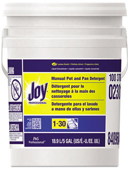Picture of item 670-703 a Joy® Professional Manual Pot & Pan Dish Detergent,  Lemon, Five Gallon Pail