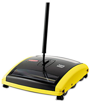 "Picture of item 968-667 a Rubbermaid® Commercial Brushless Mechanical Sweeper, 44"" Handle, Black/Yellow"