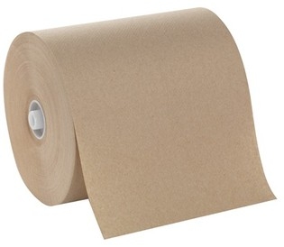 Picture of item 975-825 a GP Cormatic® Hardwound Roll Towels on 8.25 in Non-Slot Rolls. 8.25 in X 700 ft. Brown. 6 rolls.