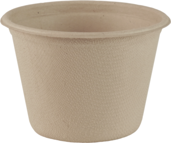 Picture of item WCC-CUSCU4 a Plant Fiber Souffle Cup.  4 oz Fiber Hot Cup.  50 Bowls/Sleeve, 20 Sleeves/Case.