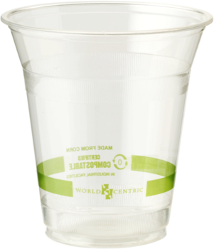 Picture of item WCC-CPCS12 a Biodegradable Ingeo™ Cold Cup. 12 oz. Clear Color. 50 Cups/Sleeve, 20 Sleeves/Case.