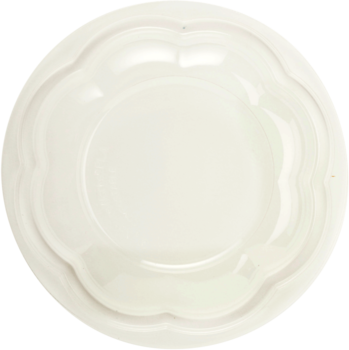 Picture of item WCC-SBLCS32 a Ingeo™ Compostable Lid.  Fits 24 oz, 32 oz, 48 oz. Salad Bowls.  Clear, Dome Lid.  50 Lids/Sleeve, 12 Sleeves/Case.